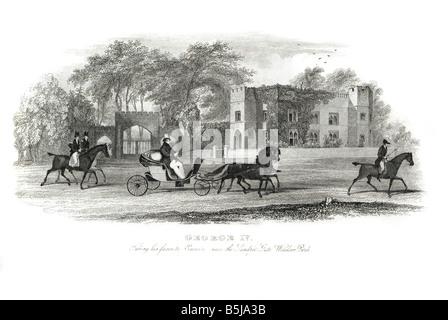 George IV Augustus Frederick 1762 1830 king United Kingdom of Great Britain and Ireland Hanover horse carriage landau - Stock Photo