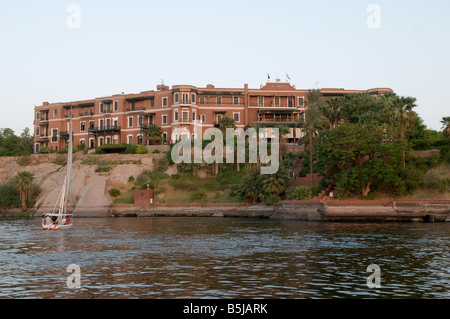 The Sofitel Legend Old Cataract Hotel a historic British colonial-era 5-star luxury resort hotel located on the - Stock Photo
