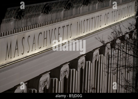 The facade of Building 10 on the Massachusetts Institute of Technology campus in Cambridge MA as seen on 12 1 07 - Stock Photo