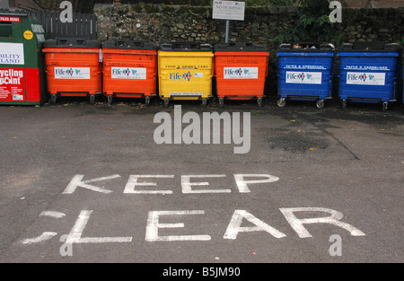 A recycling centre in Fife. - Stock Photo