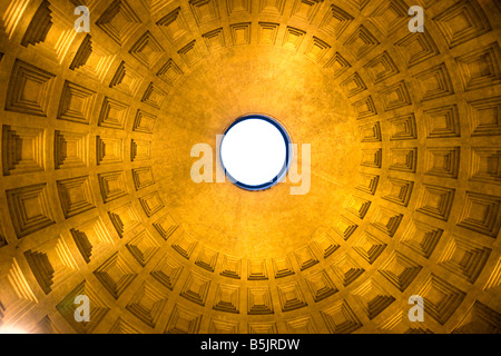Inside the Pantheon Rome Italy - Stock Photo