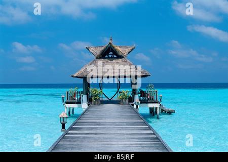 Maldives - Banyan Tree Resort - Vabbinfaru Island - Stock Photo