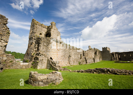 England Yorkshire Richmond castle the ruins and remains of on a nice summer day. Richmond, North Yorkshire, England, - Stock Photo