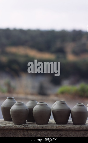 not fired pottery on Crete Greece - Stock Photo