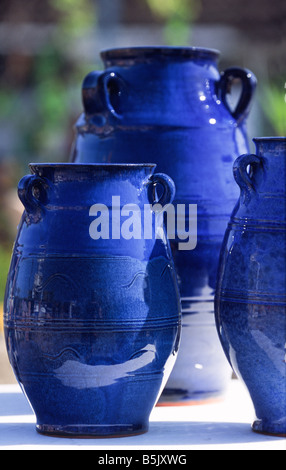 fired pottery on Crete Greece - Stock Photo