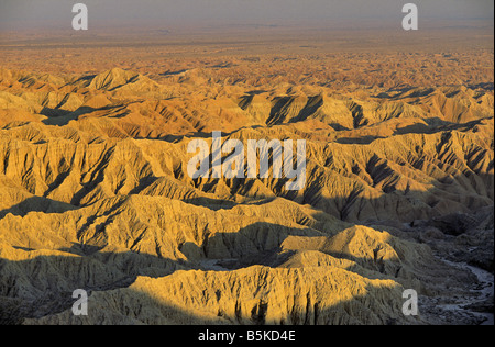 Borrego Badlands seen from Fonts Point at Anza Borrego Desert State Park California USA - Stock Photo