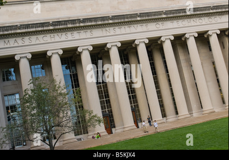 The facade of Building 10 on the Massachusetts Institute of Technology campus in Cambridge MA as seen on 9 29 08 - Stock Photo