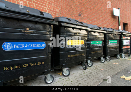 Recycle facilities in City of Westminster London - Stock Photo