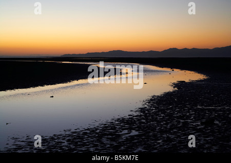 Sunrise Collingwood Beach Golden Bay Nelson Region South Island New Zealand - Stock Photo