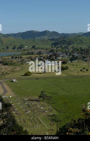 Tolaga bay on the North island in New-Zealand. - Stock Photo
