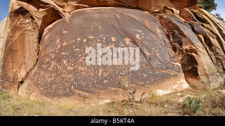 Newspaper Rock Petroglyph - Stock Photo