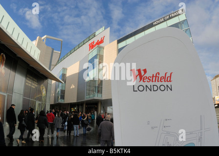 Westfield Shopping Centre, Shepherd's Bush, London - Stock Photo