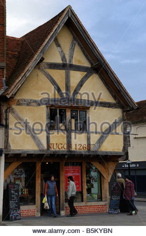 Restored Tudor building, Salisbury, Wiltshire, England, UK - Stock Photo