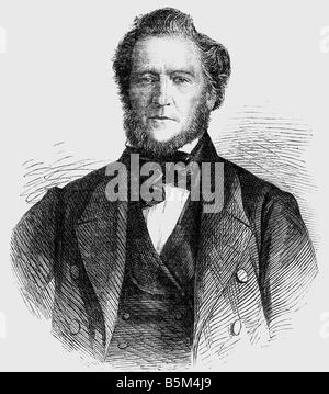 Young, Brigham, 1.6.1801 - 22.8.1877, American clergyman and politician, portrait, wood engraving, The Illustrated - Stock Photo