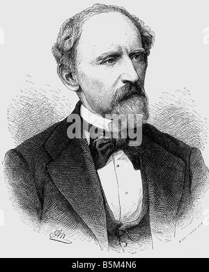 Bucher, Lothar, 25.10.1817 - 12.10.1892, German statesman and publisher, portrait, wood engraving, 19th century, - Stock Photo