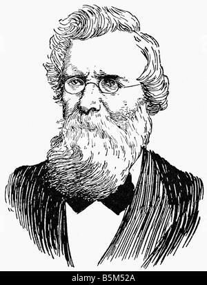 Hofmann, August Wilhelm, 8.4.1818 - 5.5.1892, German scientist (chemist), portrait, drawing, circa 1890, Additional - Stock Photo