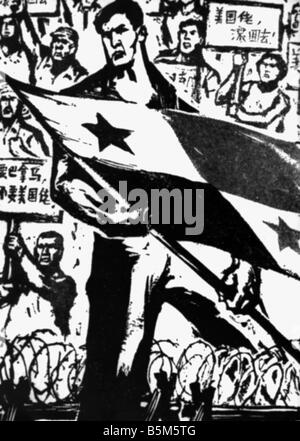 geography / travel, China, politics, propaganda, poster to support Panama against the USA, 1964, Additional-Rights - Stock Photo