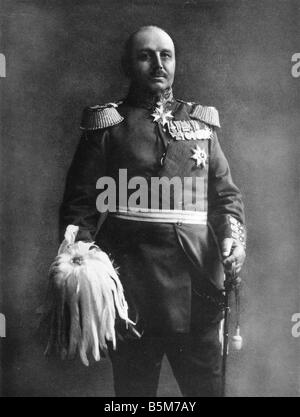 1 K51 B1910 E Alexander von Kluck Photo c 1910 Kluck Alexander von Prussian Colonel Colonel General 1913 General - Stock Photo
