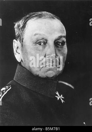 1 K51 B1915 E Alexander von Kluck Photo 1915 Kluck Alexander von Prussian Colonel General 1913 General Inspector - Stock Photo