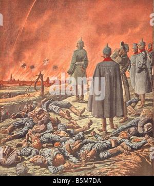 1 W46 E1914 10 E Wilhelm II Arras Petit Journal 1914 Wilhelm II German Emperor 1888 1918 1859 1941 Guillaume II - Stock Photo