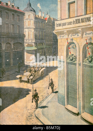 1 W46 E1917 E Wilhelm II in Brussels Petit Journal Wilhelm II German emperor 1888 1918 1859 1941 Guillaume II visite - Stock Photo
