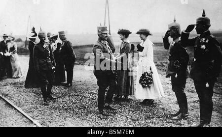 1 W46 F1917 16 E Wilhelm II and Emperor Karl 1917 Photo Wilhelm II German emperor 1888 1918 1859 1941 During World - Stock Photo