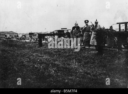 1 W46 F1917 7 Wilhelm II Western Front 1917 18 Wilhelm II German emperor 1888 1918 1859 1941 During World War I - Stock Photo