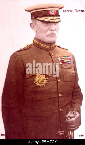 1EN 1333 B1916 E Sir John French Field Marshal Photo French Sir John Denton Pinkstone Brit ish Field Marshal 1913 - Stock Photo