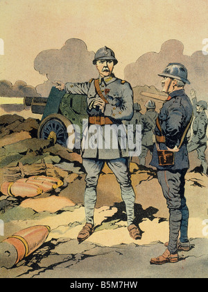 1FK 1101 E1916 1 Petain Defence of Verdun Col Print Petain Philippe French marshal and politician 1856 1951 Le general - Stock Photo