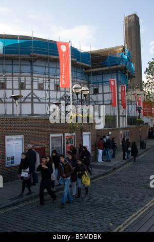 Shakespeare's Globe Theatre, Bankside, Southwark, London, England, UK - Stock Photo