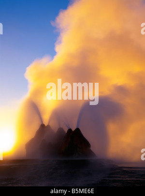 Fly Geyser Black Rock Desert Nevada - Stock Photo