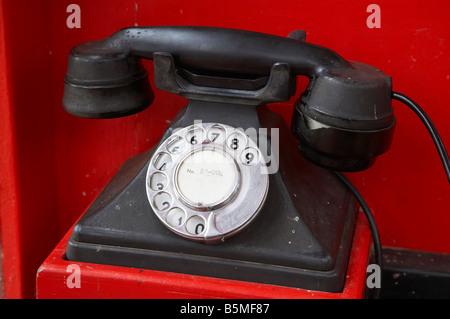 Old Public Telephone Founders Heritage Park Nelson South Island New Zealand - Stock Photo