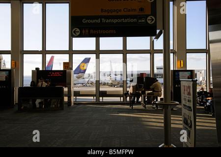 JFK Airport New York America USA Delta company terminal 3 - Stock Photo