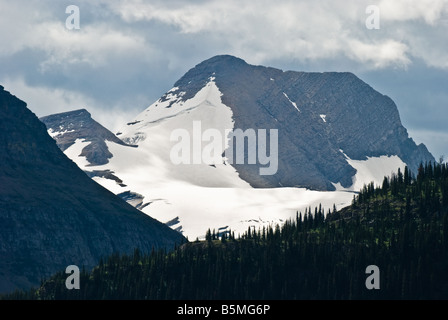 View of Jackson glacier in Glacier National Park Montana - Stock Photo