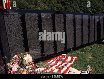 traveling replica of the Vietnam Veterans Memorial in San Francisco California USA - Stock Photo