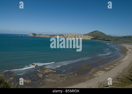 Tolaga Bay beach on the east coast of the North island in New-Zealand. - Stock Photo
