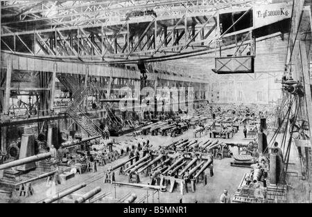 steel production krupp factory essen germany world war i 1917 stock photo royalty free. Black Bedroom Furniture Sets. Home Design Ideas