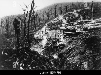 9 1916 10 24 A1 3 E Battle of Verdun 1916 World War 1 1914 18 Western Front Battle of Verdun 1916 The ravine Ravin - Stock Photo