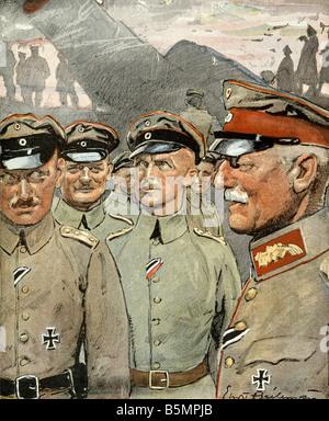 9 1916 2 21 C1 Battle of Verdun 1916 Heilemann First World War 1914 18 Western Front Battle of Verdun February October - Stock Photo