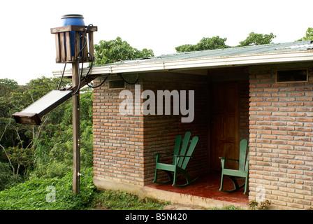 ... Solar Powered Hot Water Heater Outside A Guest Cabin At Finca Esperanza  Verde Coffe Plantation Near