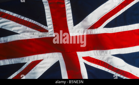 Union Jack flag close up showing ripples - Stock Photo