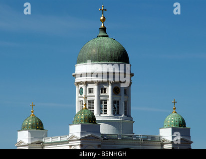 Dome Evangelical Lutheran Helsinki Cathedral Helsinki Finland - Stock Photo