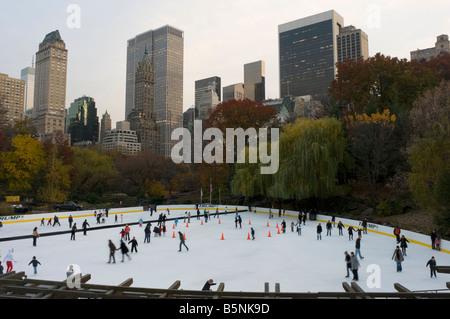 New York NY 12 November 2008 Wolman Ice Skating Rink in Central Park - Stock Photo