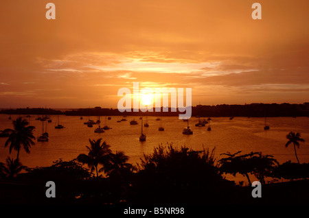 'Prickly Bay' sunset, Grenada, 'West Indies' - Stock Photo