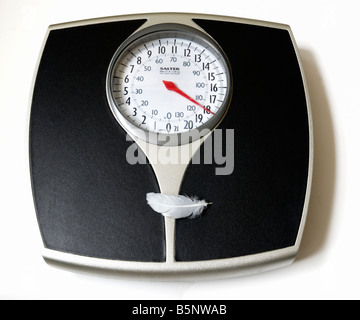 Weight, as light as a feather - Stock Photo