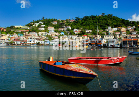 The Carenage and harbour area, St George's, Grenada, 'West Indies' - Stock Photo