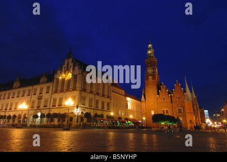 Rynek Square, Wroclaw, Poland - Stock Photo