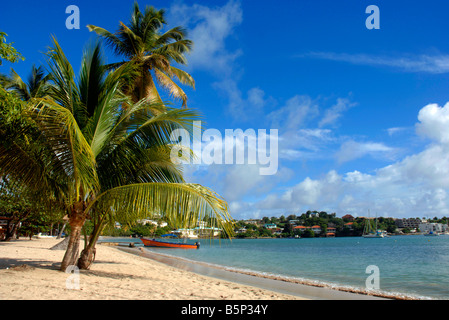 The beach at Lance Aux Epines Grenada in the 'West Indies' - Stock Photo
