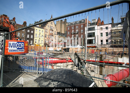 Swiss Centre redevelopment site in London's Leicester Square - Stock Photo