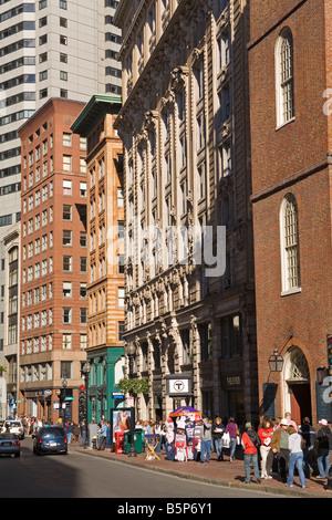 Washington Street Freedom Trail Boston Massachusetts USA - Stock Photo